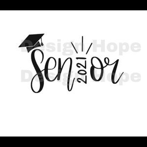"Senior 2021 4"" vinyl decal"